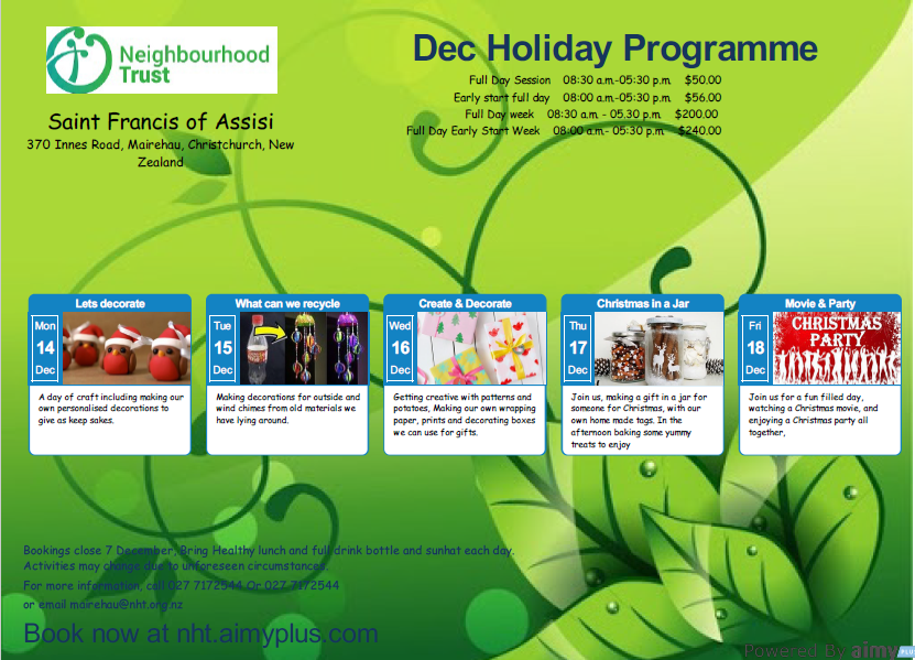 OSCAR Holiday Programme - December 2020
