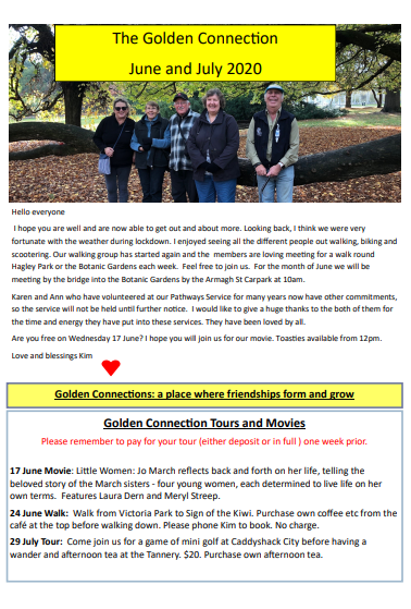 Golden Connections newsletter June-July 2020
