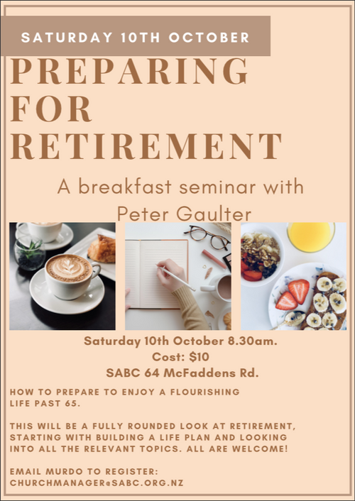 Preparing for retirement seminar