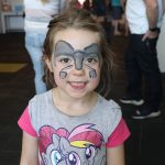 Neighbourhood Trust Light Party 2020 face painting elephant